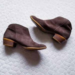 Lucky Brand Benna ankle boots suede booties 39